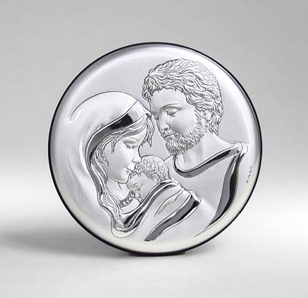 srebrny obraz świętej rodziny na ślub