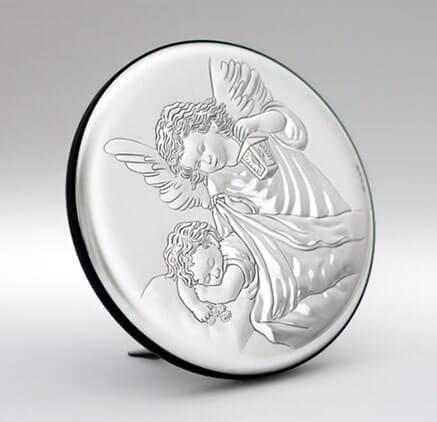 Obrazek srebrny na Chrzest - Pamiątka Chrztu Świętego - Valenti