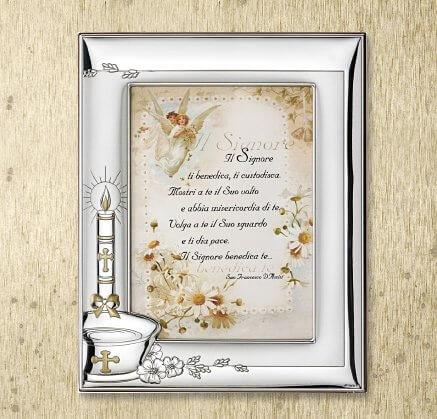 Srebrna ramka na zdjęcia na Chrzest Święty