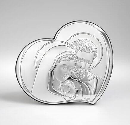 Obraz religijny ze srebra - Święta Rodzina