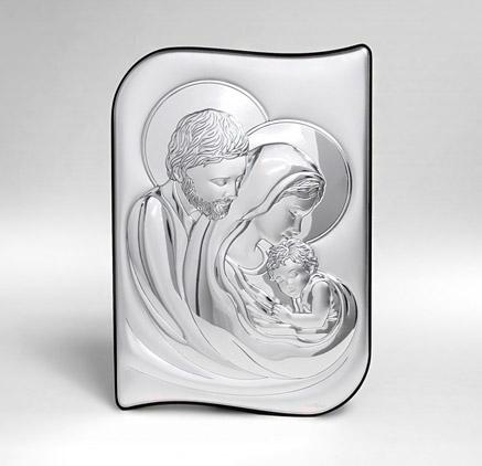 Obrazek srebrny - Pamiątka Ślubu - Święta Rodzina - Valenti