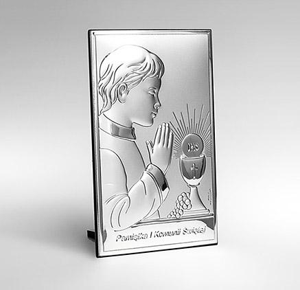 Obrazek srebrny Valenti na Komunię dla chłopca