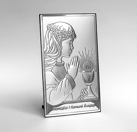 Obrazek srebrny Valenti na Komunię dla dziewczynki