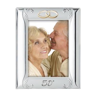 Srebrna ramka na zdjęcie Pamiątka 50 Rocznicy Ślubu