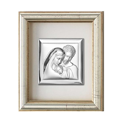 Święta Rodzina Obraz srebrny w ramie