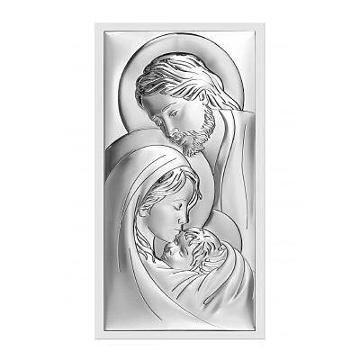 Święta Rodzina obrazek srebrny