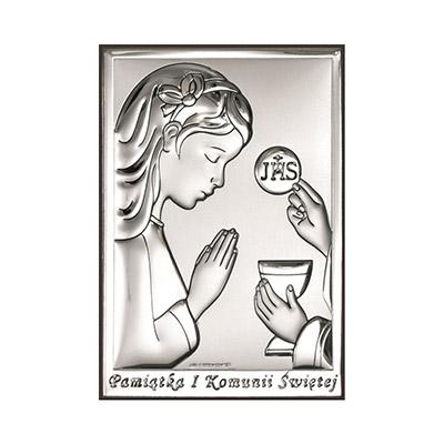 Obrazek na Komunię dla dziewczynki Pamiątka komunijna