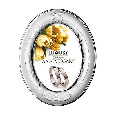 Srebrna ramka na zdjęcie Pamiątka 25 Rocznicy Ślubu