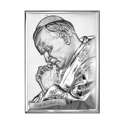 Papież Jan Paweł II Obrazek srebrny