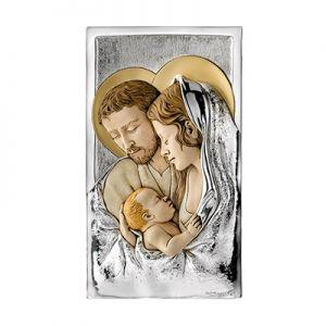 Święta Rodzina Obraz przestrzenny ze srebrem
