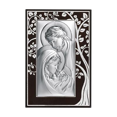 Święta Rodzina obraz srebrny na drewnie