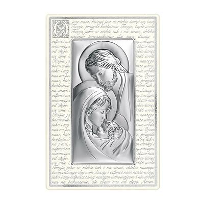 Święta Rodzina obraz srebrny na panelu