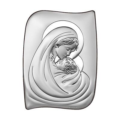Matka Boża z dzieciątkiem Obrazek srebrny