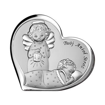 Pamiątka Chrztu Świętego Obrazek srebrny