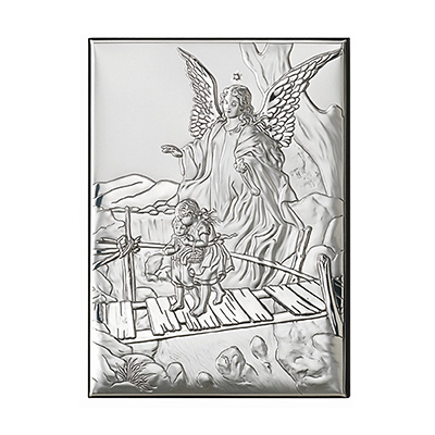 Anioł stróż Obrazek srebrny