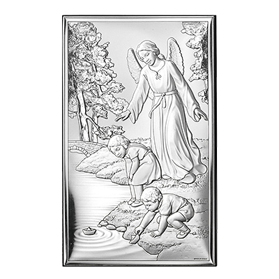 Anioł stróż nad dziećmi Obrazek na Chrzest, Komunię