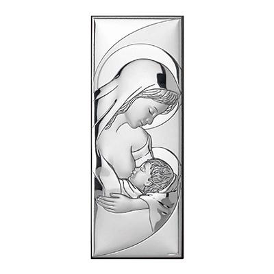 Matka Boska karmiąca Obrazek srebrny