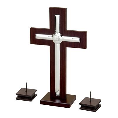 Krzyż + świeczniki zestaw kolędowy