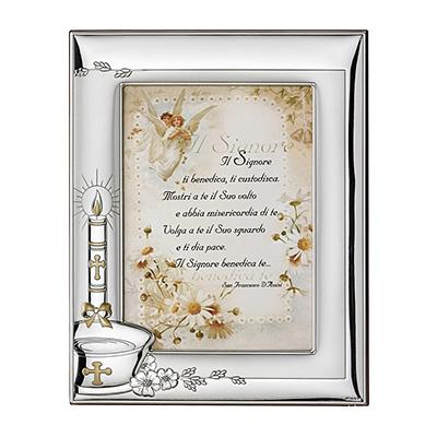 Srebrna ramka na zdjęcie Pamiątka Chrztu Świętego